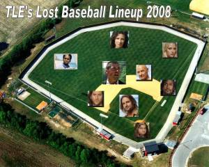 TLE\'s LOST 2008 Baseball Lineup