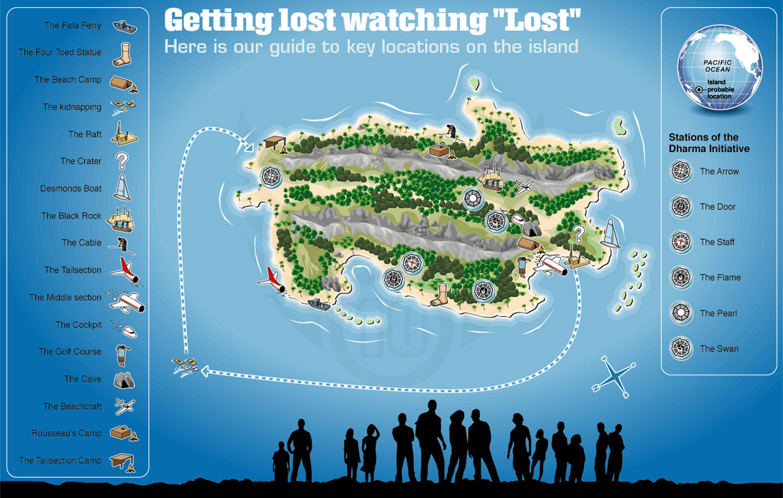 Lost In Blue  Map Of Island